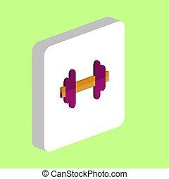 Barbell computer symbol