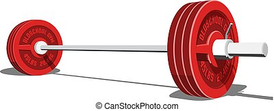 Barbell for weight lifting, bodybuilding, powerlifting