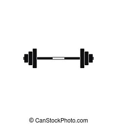 Barbell icon in simple style
