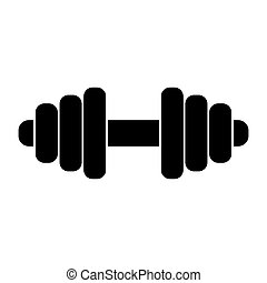 Barbell icon vector isolated on white background