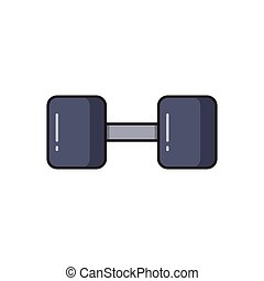 barbell line flat icon