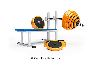 barbell on a white background