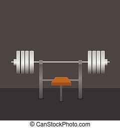 Barbell on bench