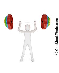 Barbell on white background