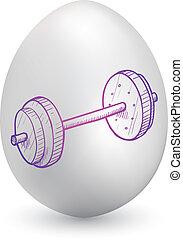 barbell, su, uovo di pasqua