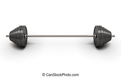Barbell weight isolated on white