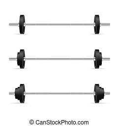 Barbells Set Isolated on White Background. Vector