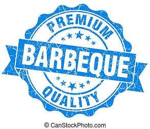 barbeque blue vintage isolated seal