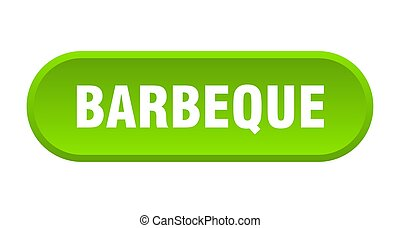 barbeque button. barbeque rounded green sign. barbeque