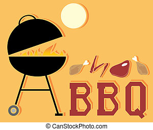 barbeque - an illustration of an abstract barbeque advert...