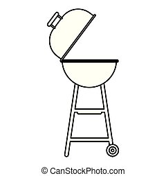 barbeque grill isolated icon
