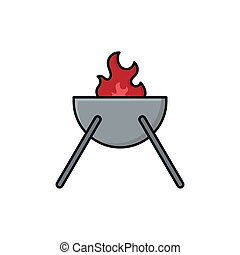 barbeque grill vector design template illustration
