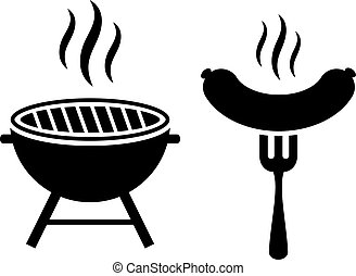 Barbeque grill vector icon