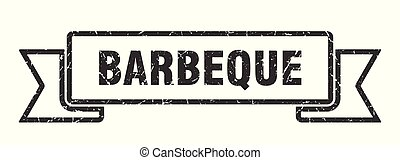 barbeque grunge ribbon. barbeque sign. barbeque banner