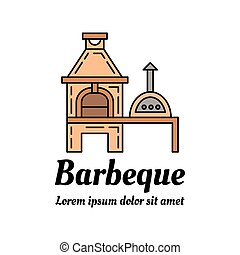 Barbeque icon - Barbeque colorful icon design. Linear style...