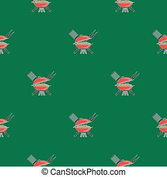 Barbeque Icon Seamless Pattern