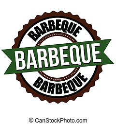 Barbeque label or sticker