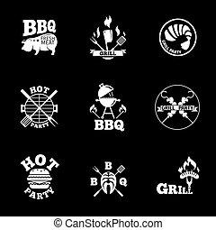 barbeque labels set