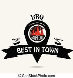 barbeque, logo, emplacement