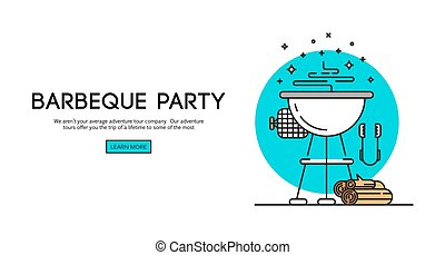 Barbeque party illustration