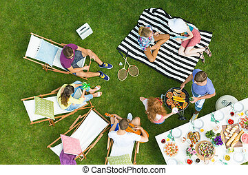 Barbeque party in a park