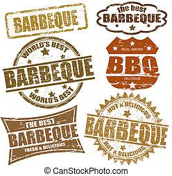 barbeque, postzegels