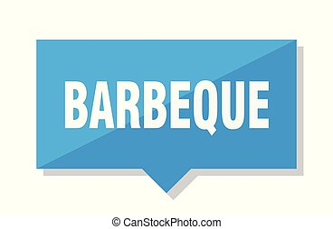 barbeque price tag - barbeque blue square price tag