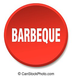 barbeque red round flat isolated push button