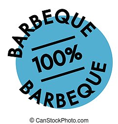 barbeque rubber stamp