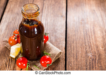 Barbeque Sauce with Tomatoes, Smoked Salt and fresh Herbs...