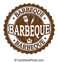 Barbeque sign - Barbeque vintage sign on white background,...