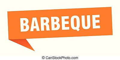 barbeque speech bubble. barbeque sign. barbeque banner