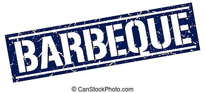 barbeque square grunge stamp