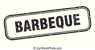 barbeque stamp. barbeque square grunge sign. barbeque
