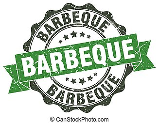 barbeque stamp. sign. seal