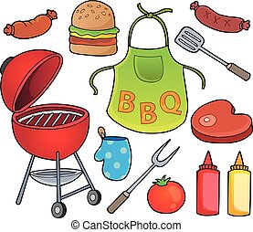 Barbeque theme set 1 - eps10 vector illustration.