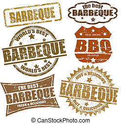 barbeque, timbres