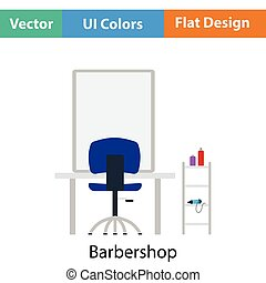 barbería, icono