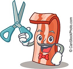 Barber bacon character cartoon style