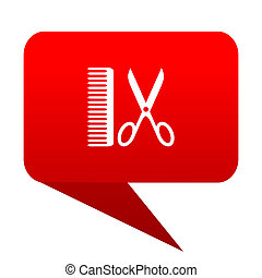 barber bubble red icon