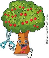 Barber cherry tree in the cartoon shape