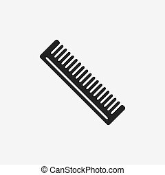 Barber comb hair black icon