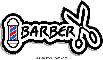 Creative design of barber icon