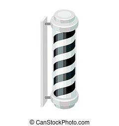Barber logo. Barbershop single icon in monochrome style vector symbol stock illustration web.