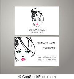 Barber logo template identity card - Hair salon, hairdresser...