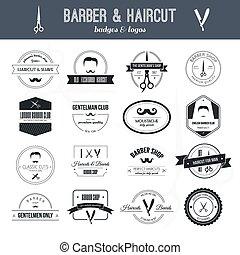 Barber Logos - Perfect set of barber and haircut logos....