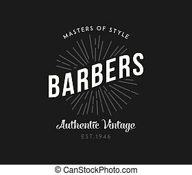 Barber masters of style white on black