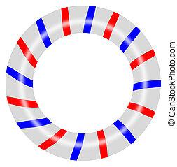 Barber Pole Circle - Illustration of barber pole circle