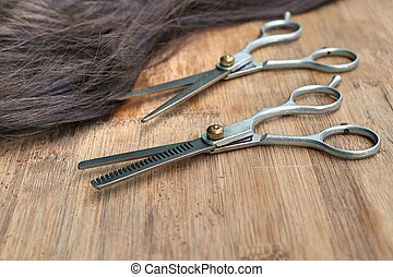 Barber scissors hair cutting