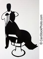 Barber Shop 01 - A sign for a barber\'s shop.